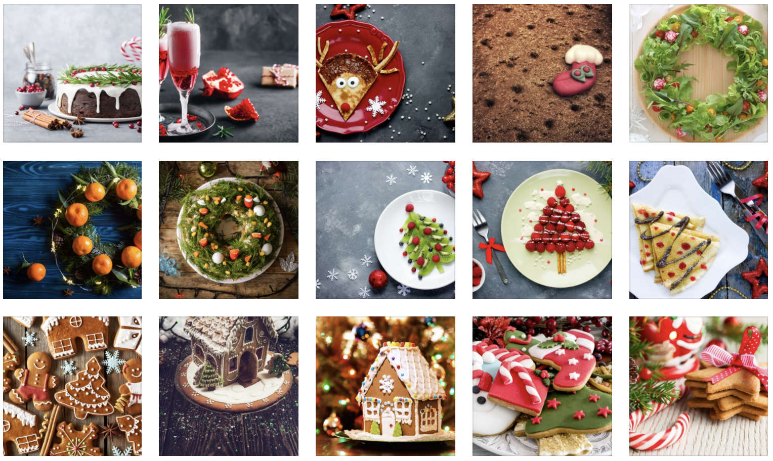 Creatively Decorated Christmas Dishes